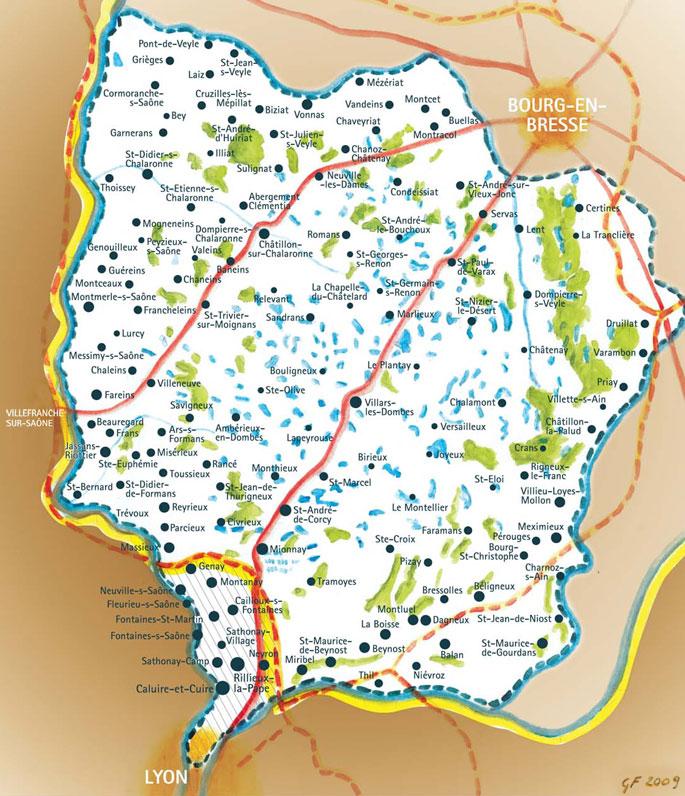 Découvrez la Dombes et ses étangs dans une région proche de Lyon